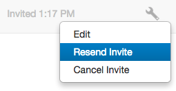 Cancel or Resend Invitation